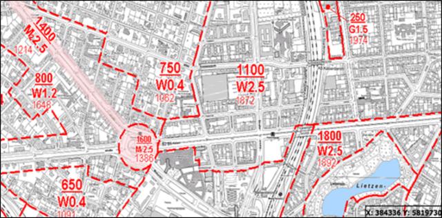 ベルリン不動産・減価償却の計算のもととなる地価情報