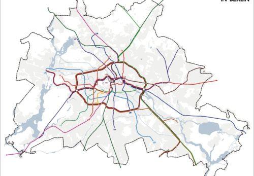 ベルリン Sバーン・Uバーン路線図