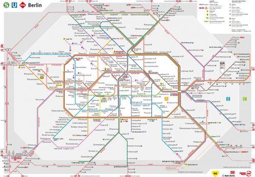 ベルリン鉄道路線図