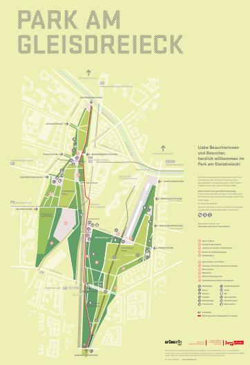Park am Gleisdreieck 全体図 (ベルリン市公式HPより)