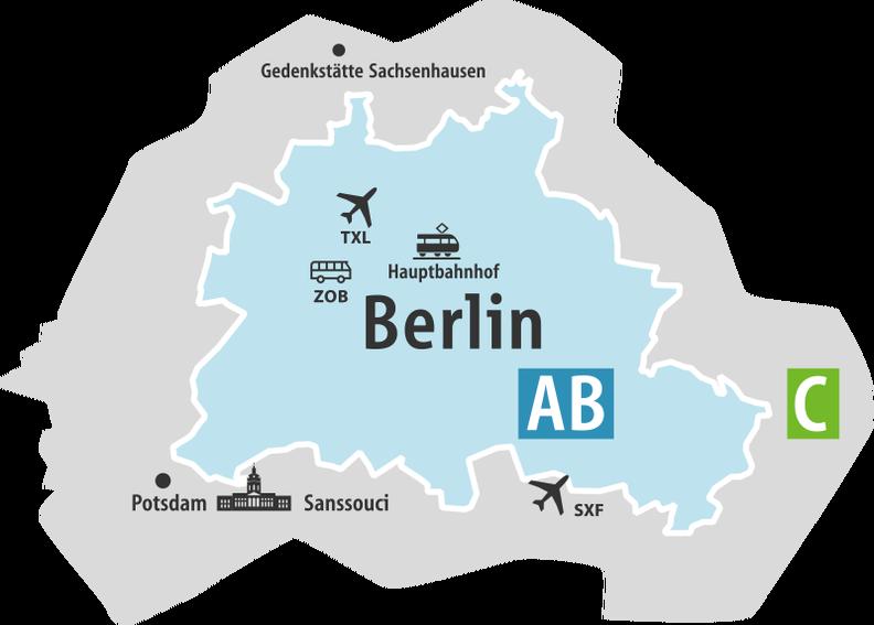 ベルリン料金マップ